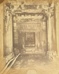 Interior of old temple at Kadvar, Kathiawar